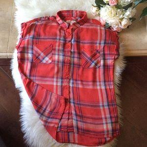 Mossimo Plaid Red Shirts XS